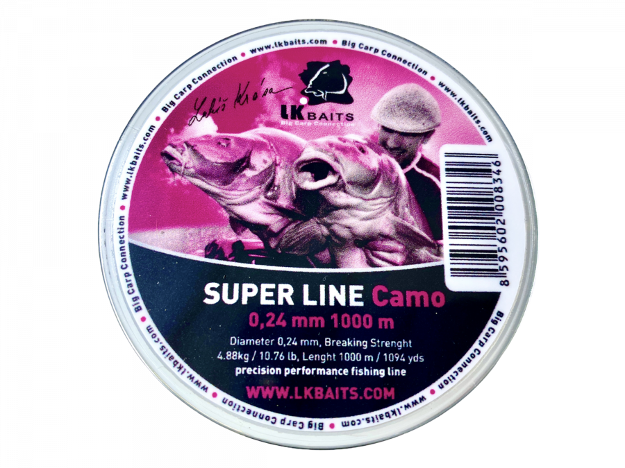 LK Baits Super Line Camo 0,28mm 1000m