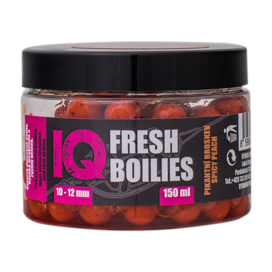 IQ Method Feeder Boilies Fresh 10-12mm,150 ml Spicy Peach