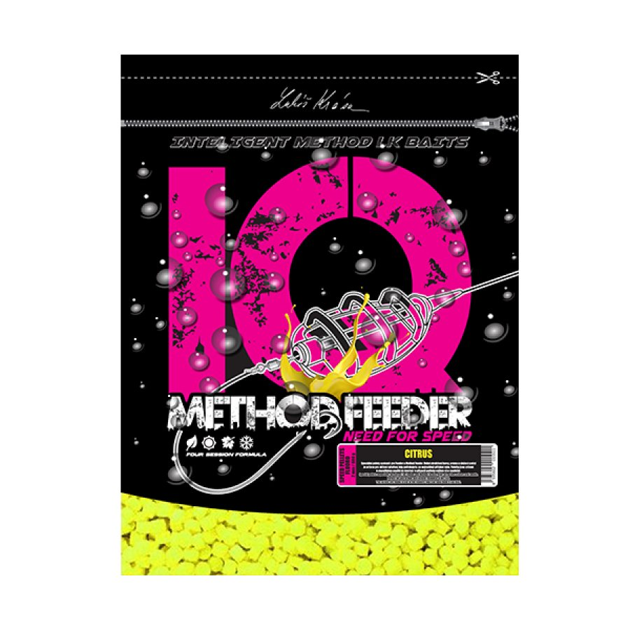 IQ Method Feeder Speed Fluoro Pellets 600g Citrus 4mm